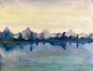 Akvarellmålning landskap