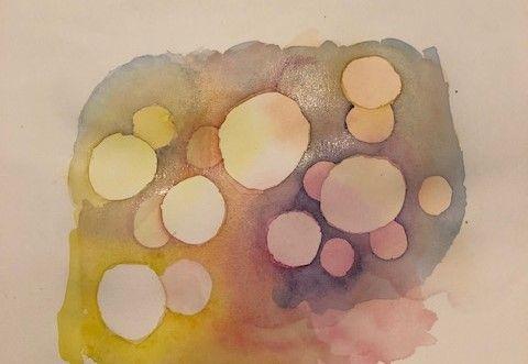 Akvarell övning bubblor