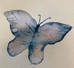 Fjäril akvarell